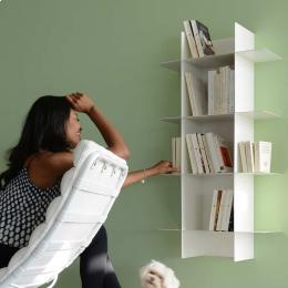 Libreria componibile INNESTO: modulo base più 4 mensole