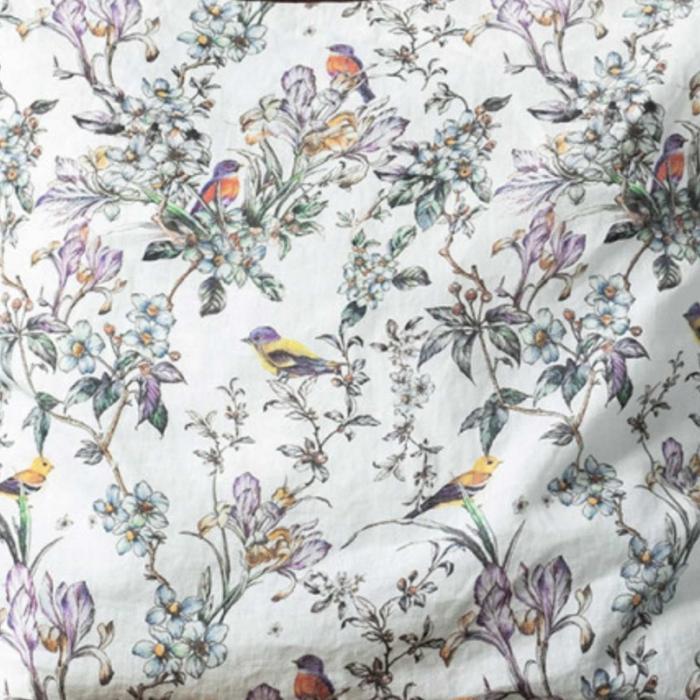 Birds - tovaglia in lino stampa fantasia