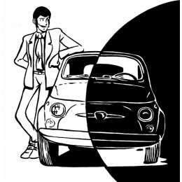 Lupin black&white