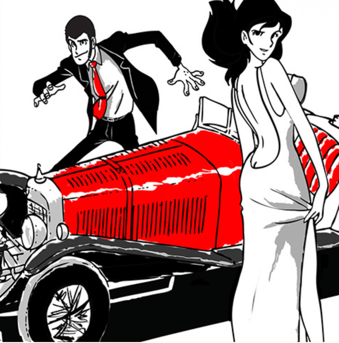 Stampa Canvas Comics Lupin E Margot Livingdeco