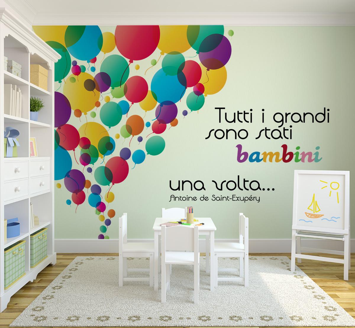 100 sticker pareti bambini free bambini adesivi per - Stickers per pareti cameretta bambini ...