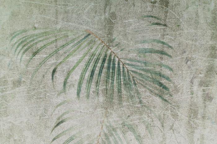 Carta Da Parati Moderna Texture.Carta Da Parati Moderna Raffigurante Foglie Di Palma Livingdeco