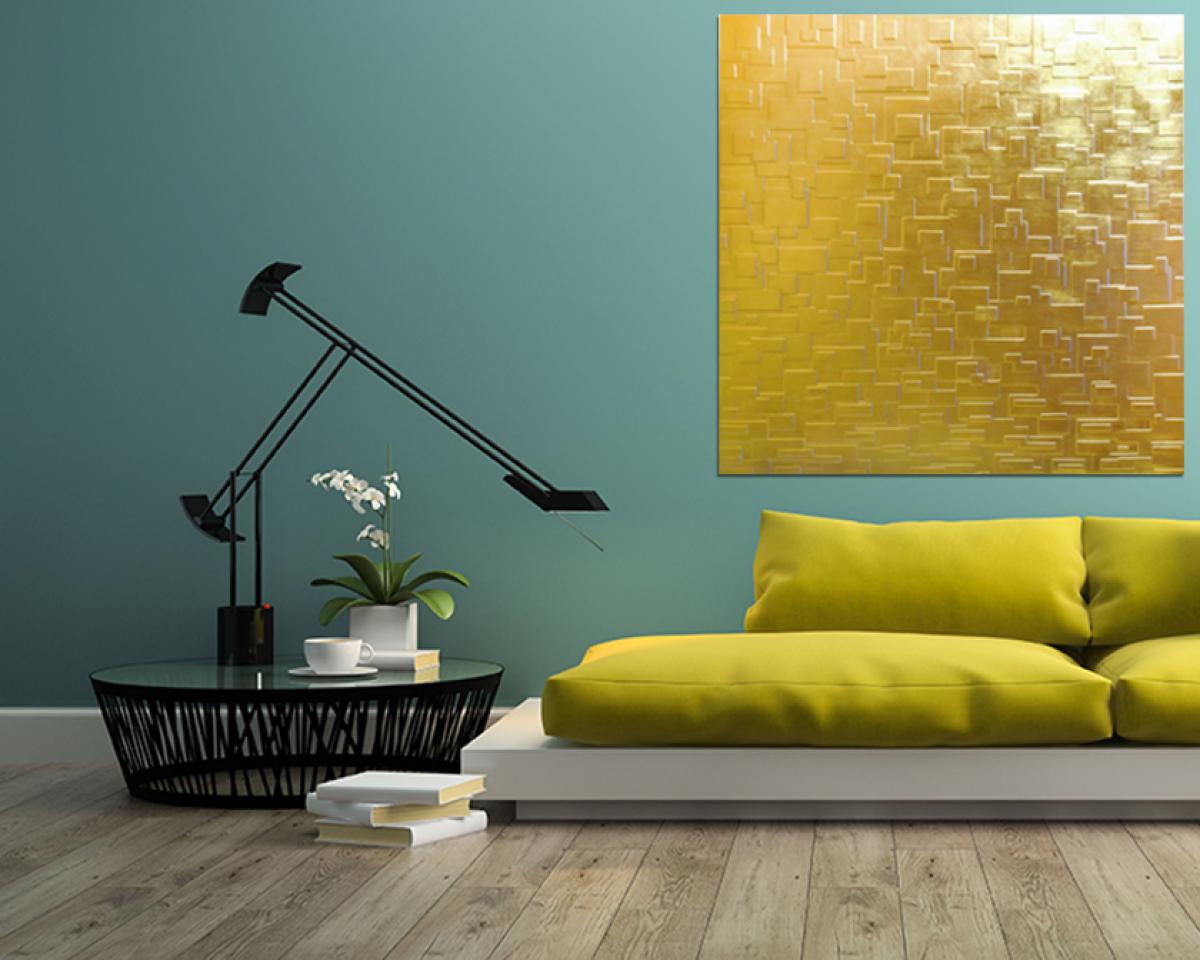 Pannelli decorativi 3d pannello foglia oro livingdeco 39 - Pannello decorativo ...