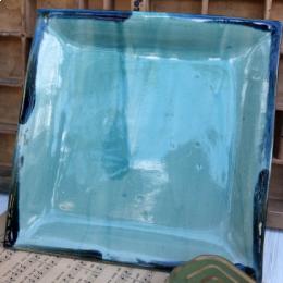 Piatto quadrato in ceramica