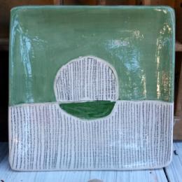 Piattino posacenere righe verde