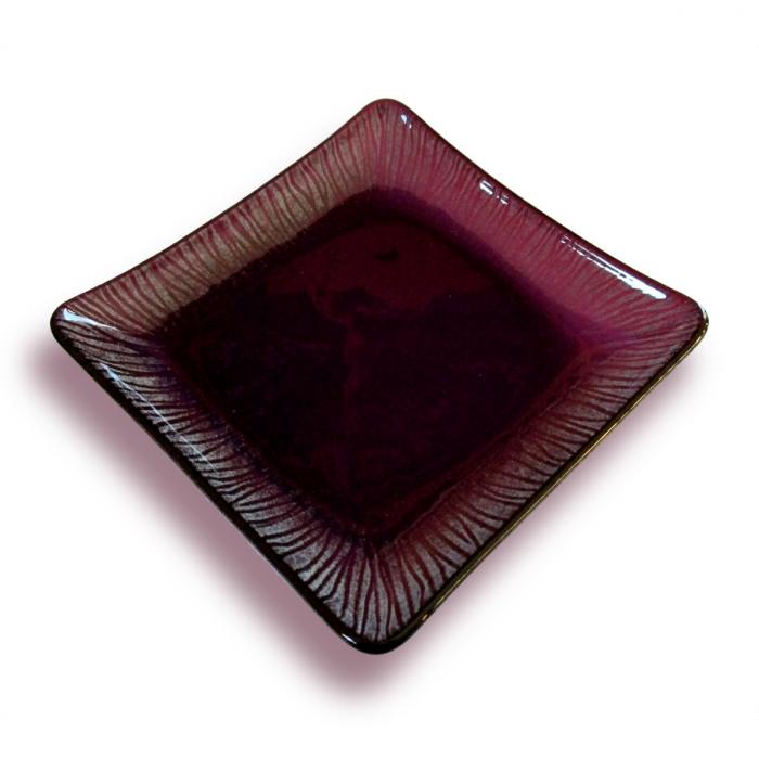 Piattino quadrato - serie strisce