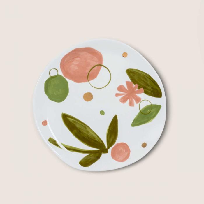Good Morning - tazza decorata a fiori con piattino