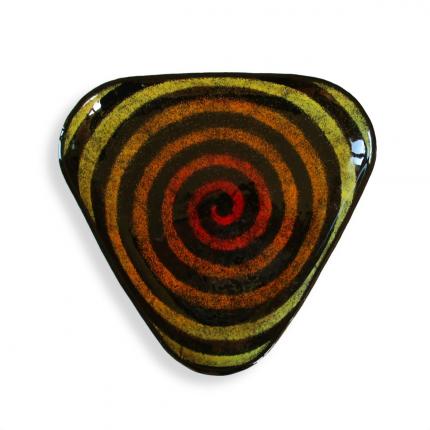 Spirale - Piattino triangolare nero