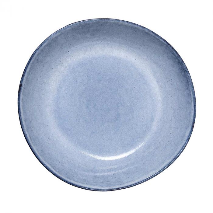Sandrine - set 6 piatti fondi blu