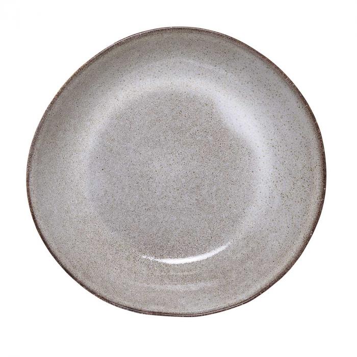 Sandrine - set 6 piatti fondi grigio sabbia