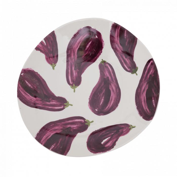 Piatto di portata fantasia melanzane