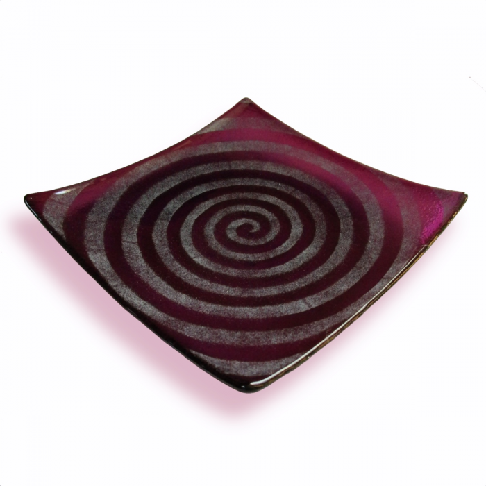 Spirale - Piatto quadrato ametista