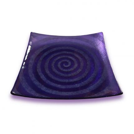 Spirale - Piatto quadrato viola