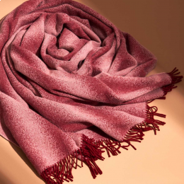Tide - plaid bordeaux e rosa cipria