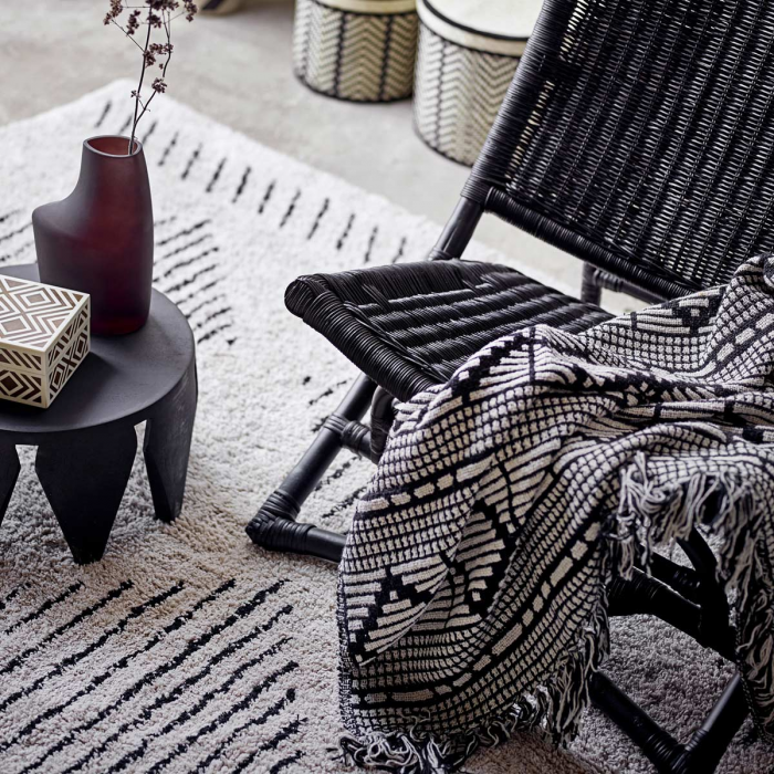 Cozy - plaid decorativo bianco e nero