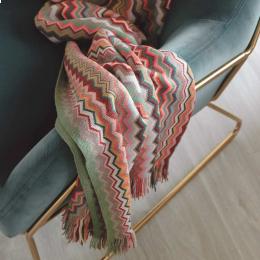 Firenze - Plaid in lana multicolore