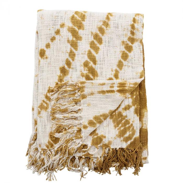 Plaid fantasia batik gialla in cotone