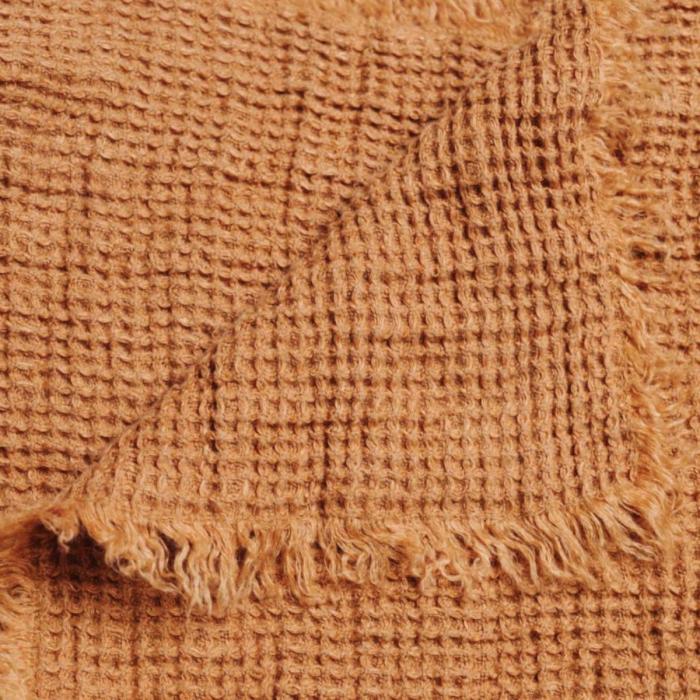 Nest - plaid in lino color terracotta