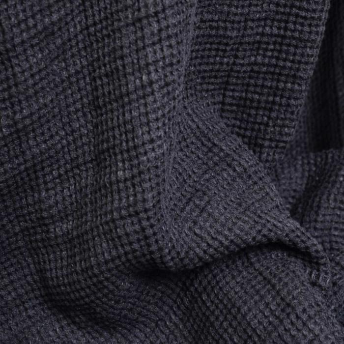 Nest - plaid in lino grigio scuro