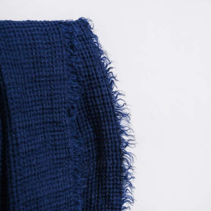 Nest - plaid in lino blu navy