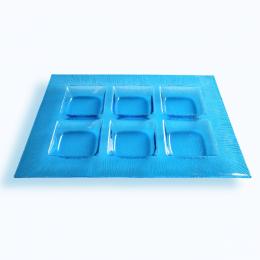 Porta aperitivi in vetro di Murano azzurro