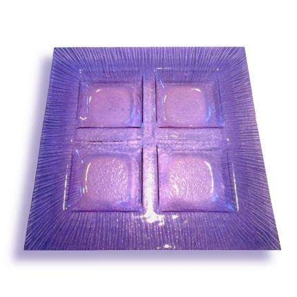 Porta aperitivi lilla - decori viola