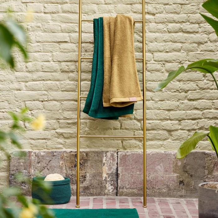 Icon - Scala porta asciugamani dorata