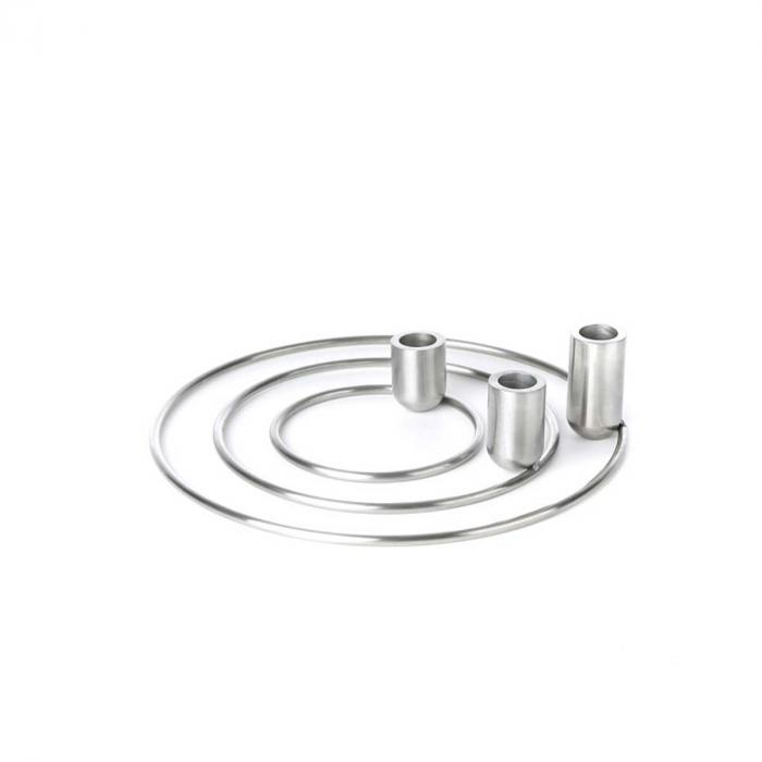 Orbital - portacandele acciaio