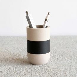 Two Tone III - portamatite bianco con fascia nera