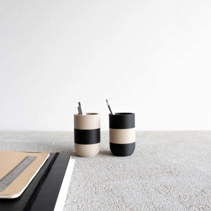 Two Tone IV - portamatite nero con fascia bianca
