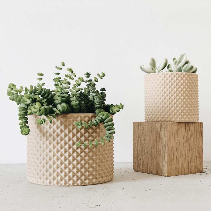 Piko - Portavaso moderno color legno naturale