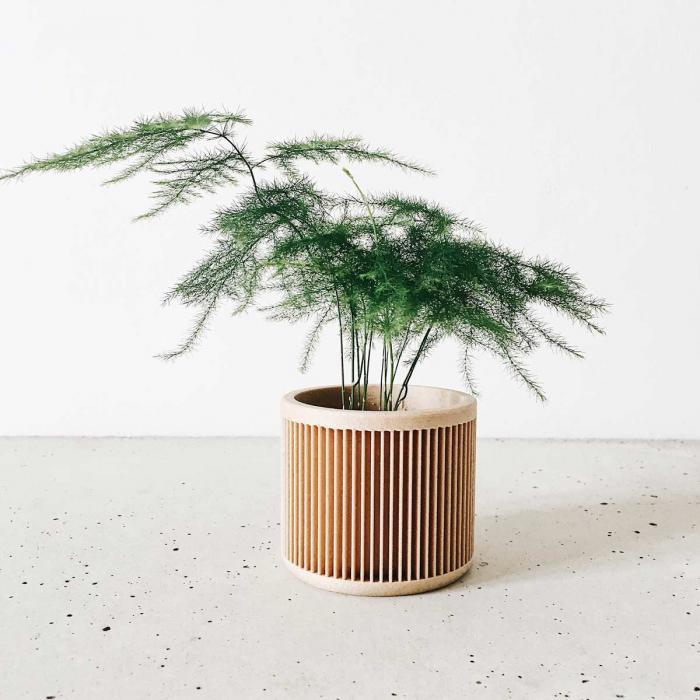 Japan - Portavaso tinta legno naturale