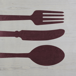 Quadri in legno | Objects | Cutlery colors