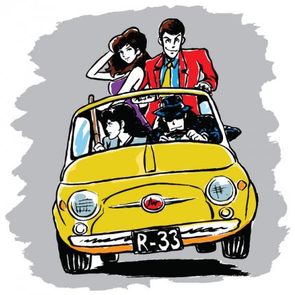 Stampa quadro su tela di Lupin - Lupin & Co. sulla 500