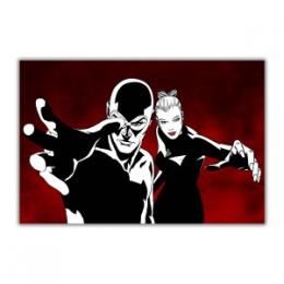 Diabolik & Eva Kant sfondo rosso