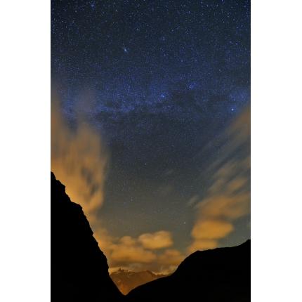 Nuvole e stelle sul Mont Cenis
