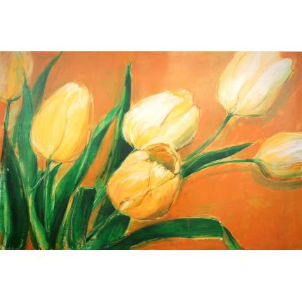 Stampa su tela tulipani in bianco e nero | LivingDECO\'
