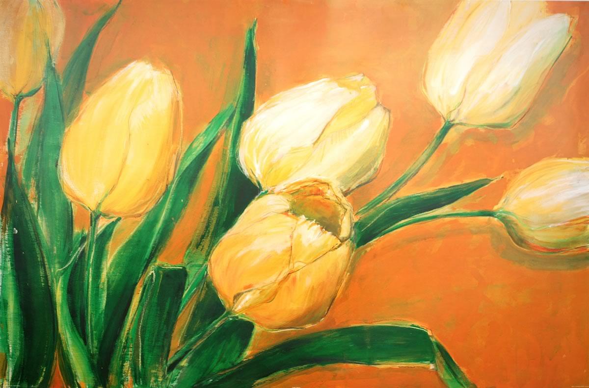 Stampa su tela tulipani gialli | LivingDECO\'