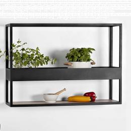 Herbarium - scaffale in metallo e legno