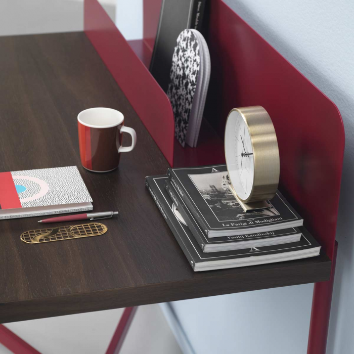 Academy - scrivania in metallo e rovere