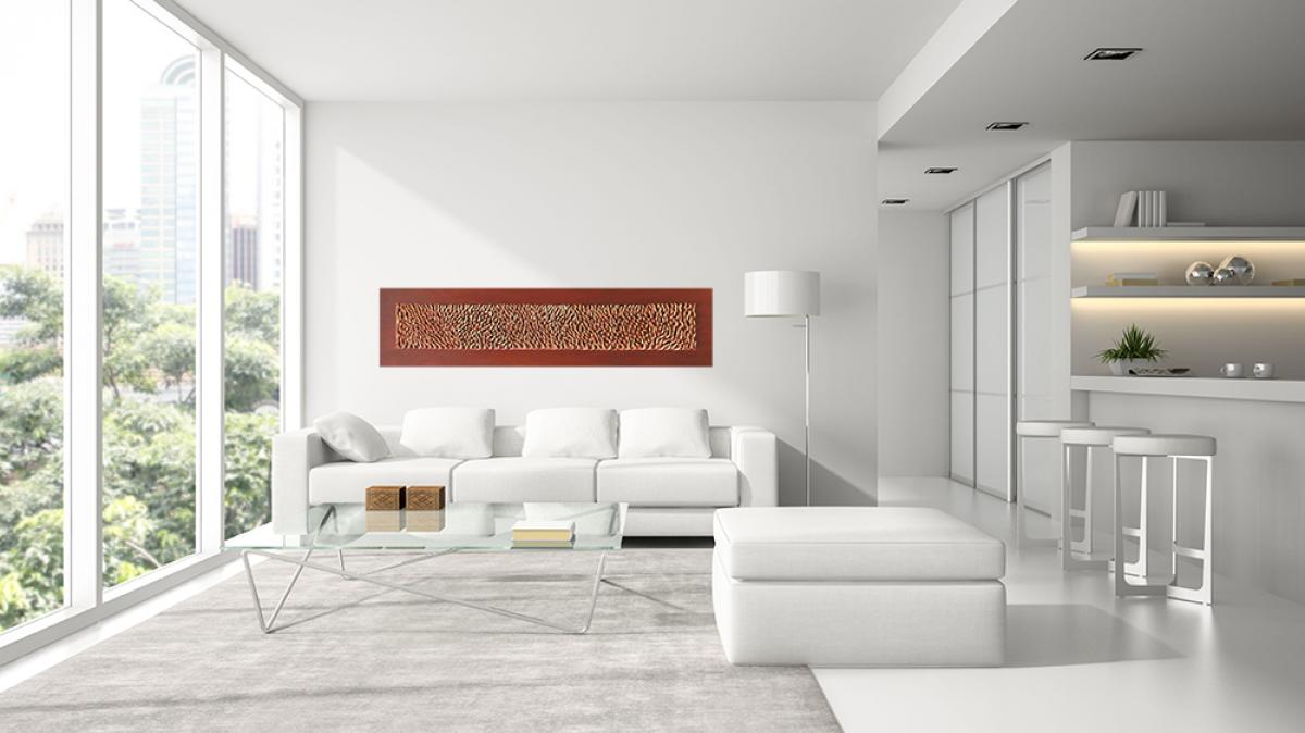 Pannelli decorativi 3d pannello largo bronzo livingdeco 39 - Pannello decorativo parete ...