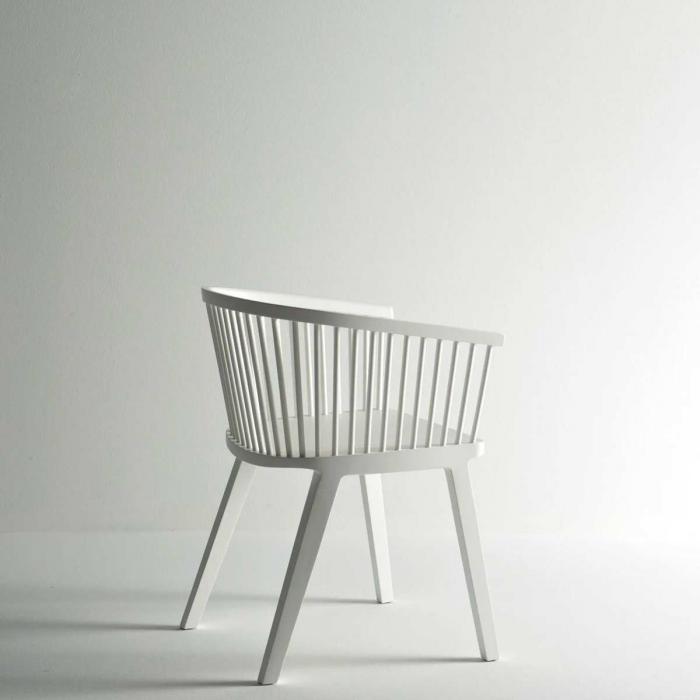 Secreto - sedia bianca laccata