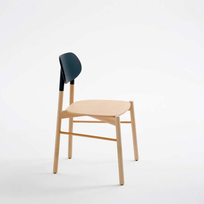 Bokken - sedia in faggio naturale con schienale antracite