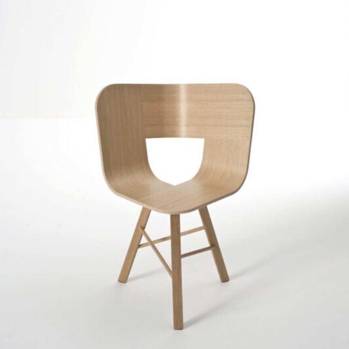 Tria wood - sedia in rovere naturale