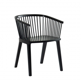 Secreto - sedia nera laccata