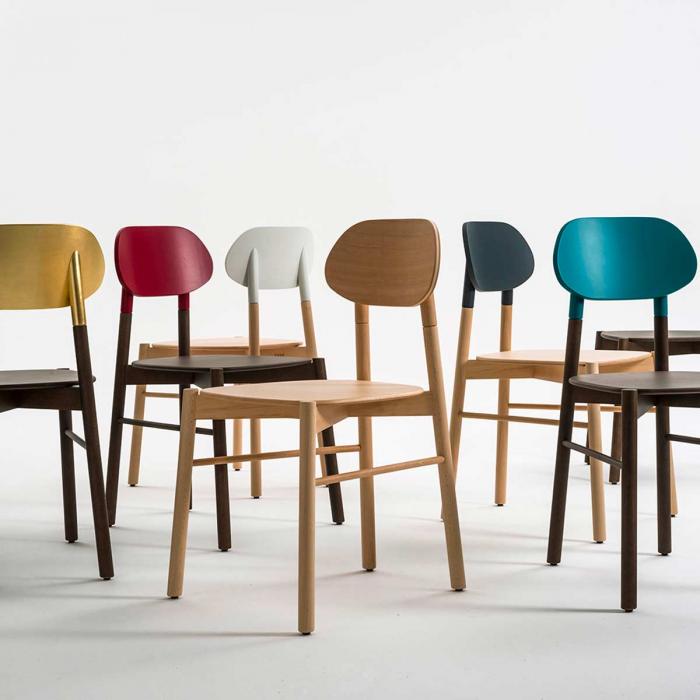 Bokken - sedia in legno di faggio naturale