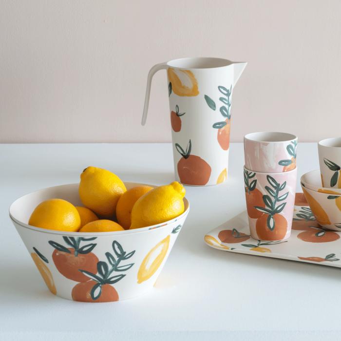 Ciotola 25 cm in bamboo Sicilian Summer Lemon Orange