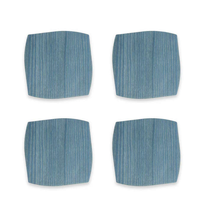 Sottobicchiere in rovere frassino azzurro