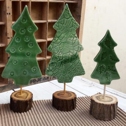 Decorazioni Natalizie - Set di 4 alberi di Natale
