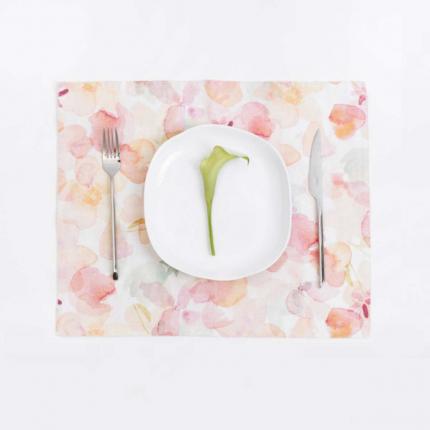 Flora - set 6 tovagliette in lino stampa floreale